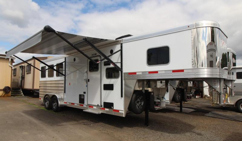 2020 Exiss Escape 7308 - 8ft sw Living Quarters 3 Horse Trailer