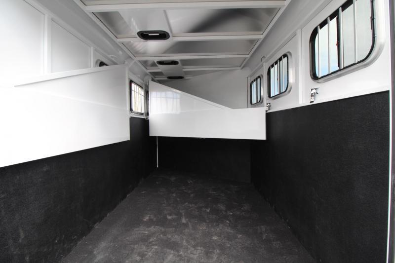 2018 Trails West Adventure MX 3 Horse Trailer - Aluminum Skin Steel Frame - Swing out Saddle Rack