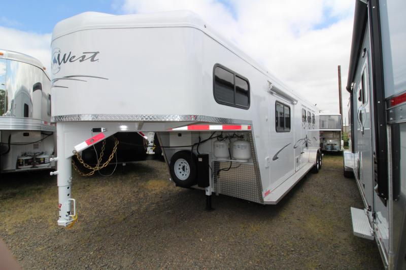 2018 Trails West Classic 10x10 - Side Tack - Slide - 10' SW 3 Horse Living Quarters Trailer - PRELIMINARY PHOTOS