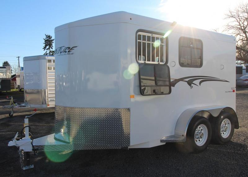 2019 Trails West Adventure II MX 2 Horse Trailer - Aluminum Skin Steel Frame