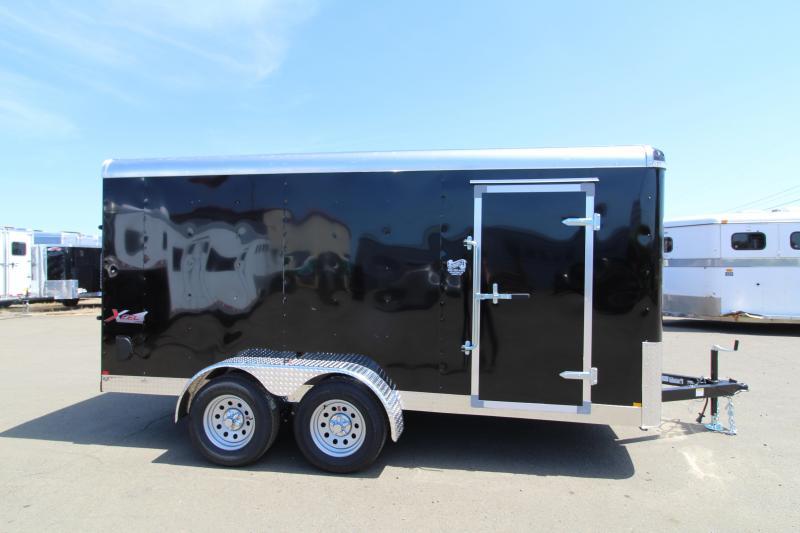 2019 Mirage Xcel 7x14 - Cargo Utility Trailer- black in color - Upgraded Xtra package - Rear ramp door - Tandem axle - Curbside RV door!