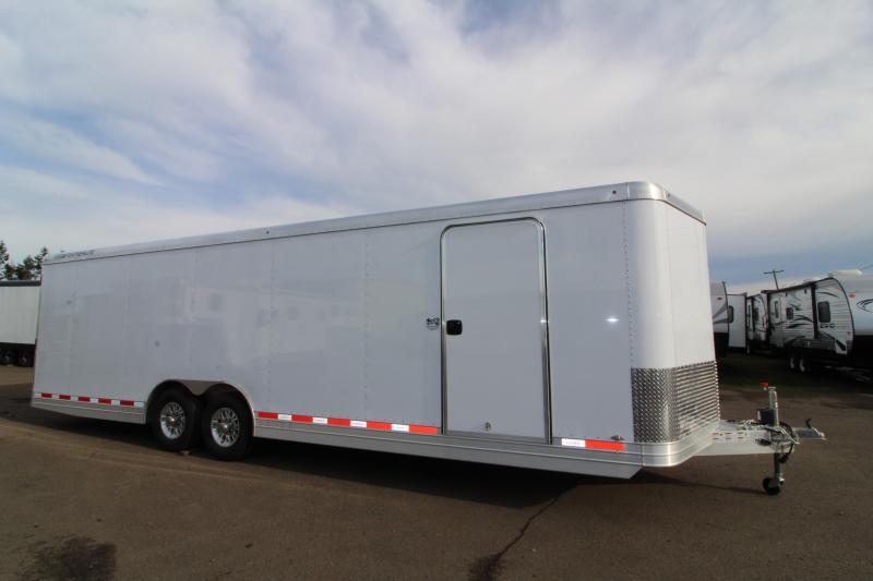 "2019 Featherlite 4926 28' Enclosed Car Trailer - All Aluminum - Rear Ramp with Cable Assist - 8'6"" Wide 7' Tall"
