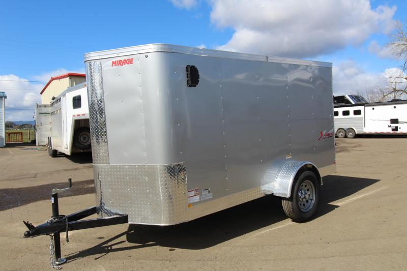 2019 Mirage Trailers X-Pres 5 x 10 Enclosed Cargo Trailer - Single Rear Door - V Nose - Diamond Ice Exterior Color