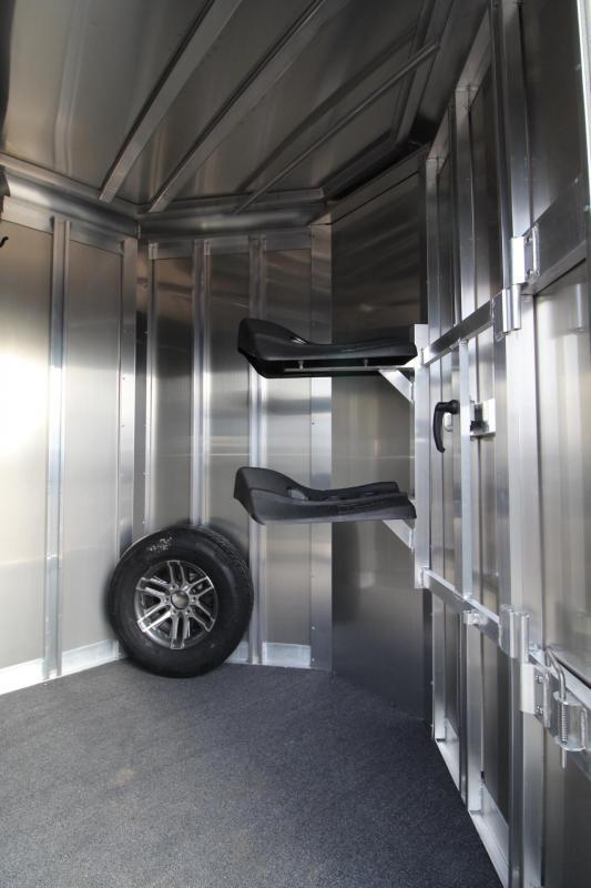 """2018 Exiss 720 Horse Trailer -7'6"""" Tall - Lined & Insulated Ceiling - Polylast flooring - Large Tack Room PRICE REDUCED $1730"""
