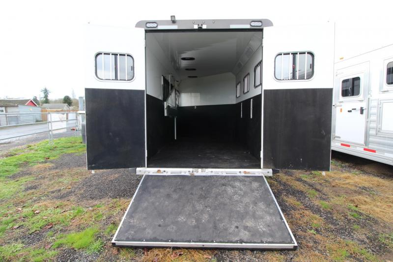 "2016 used Trails West Sierra Select 7' 6"" Tall 3 Horse Trailer W/ Ramp - Aluminum Seamless vacuum bonded walls & roof"