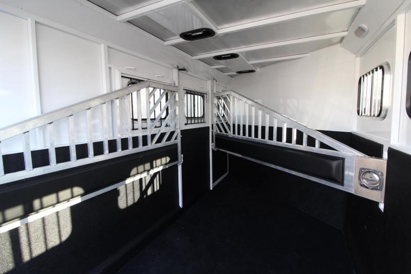 "2019 Trails West Classic II 7' 6"" Tall 3 Horse Trailer w/ Escape Door"