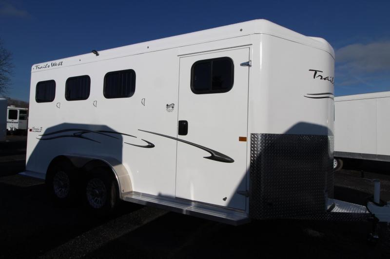 "2019 Trails West Classic II 7' 6"" Tall 3 Horse Trailer w/ Escape Door"