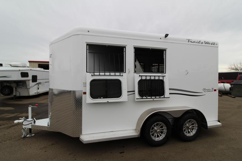 "2019 Trails West Classic 2 Horse Trailer- 7'6"" Tall"