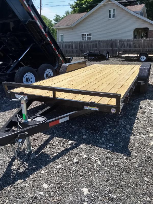 2018 Sure-Trac 7x18 Wood Deck Car / Racing Trailer