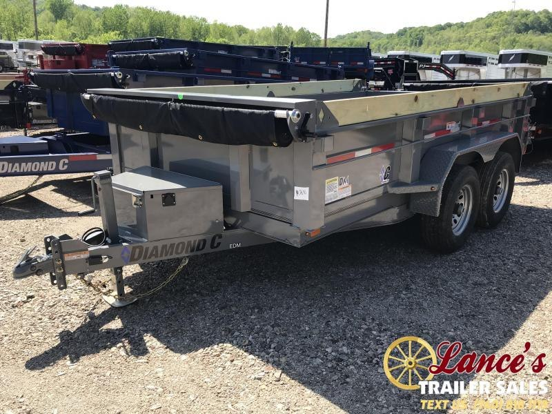 "2019 Diamond C 77""x12' Dump Trailer K1214299"