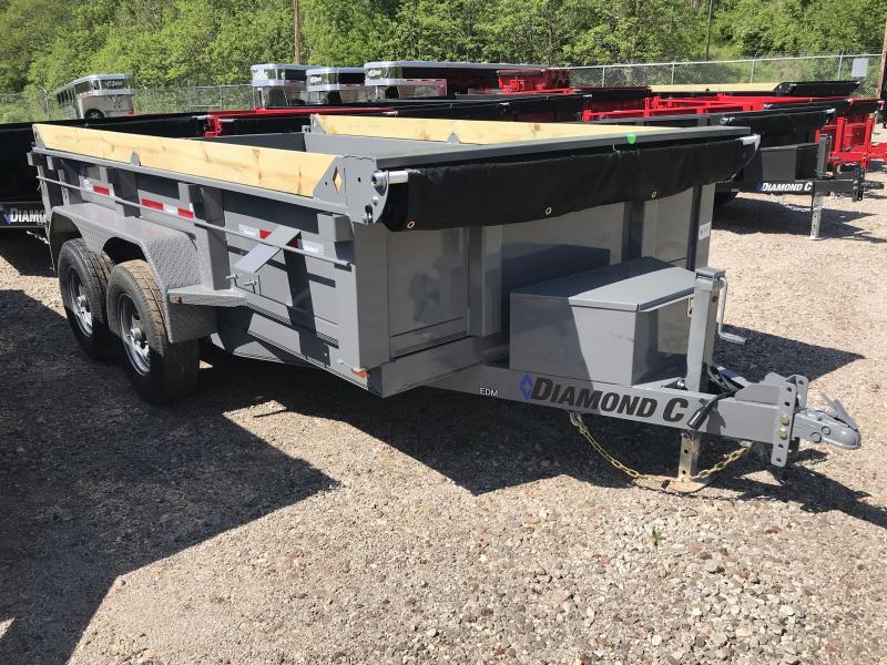 """2019 Diamond C 77""""x12' Dump Trailer K1214299"""