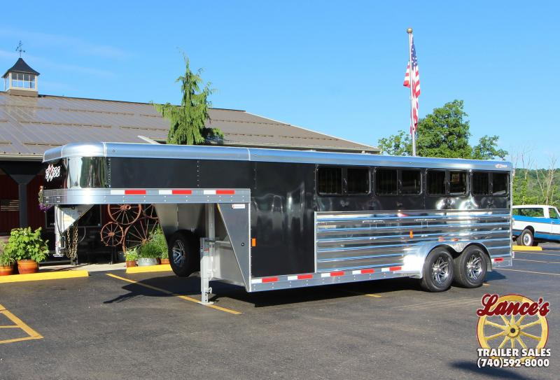 "2019 Exiss ""Exhibitor"" 20' Livestock Trailer w/Windows"