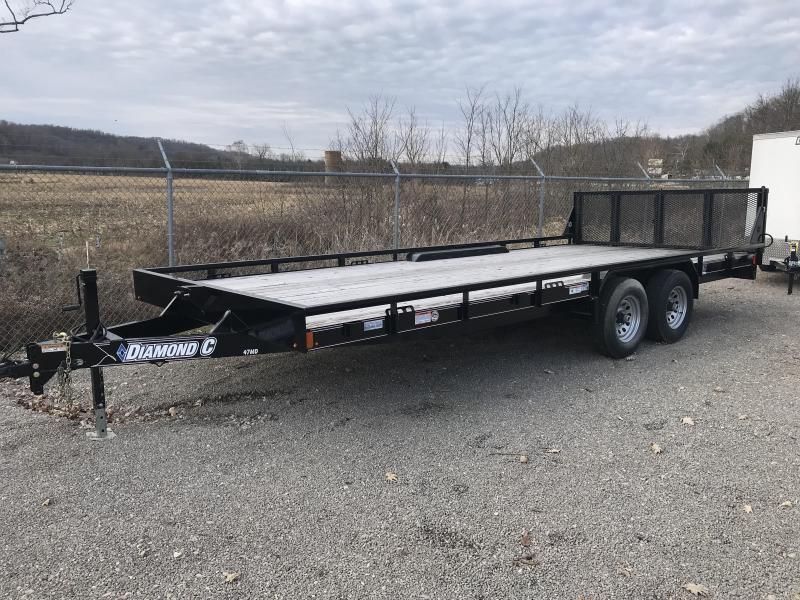 "2018 Diamond C 98""X20' Equipment Trailer J1194393"