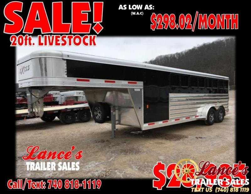 2019 Exiss Exhibitor 20' Lo-Pro Show Gooseneck Trailer w/ Windows
