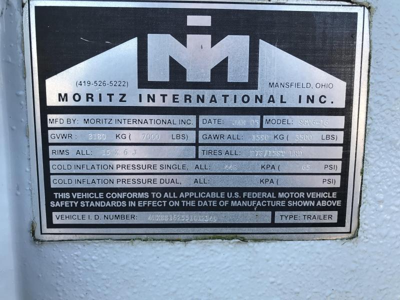 2005 Moritz 16' Stock Combo Trailer 51012349