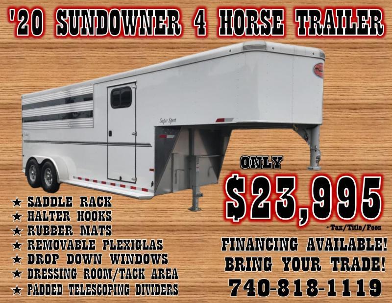 2020 Sundowner Super Sport 4 Horse Trailer