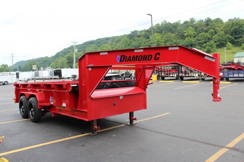 "2018 Diamond C 82""x14' Heavy Duty Low Pro Gooseneck Dump"