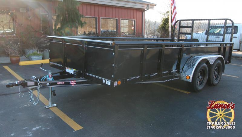 "2019 PJ 83"" x 16' Heavy Duty Fold Up Gate Utility Trailer K2585756"