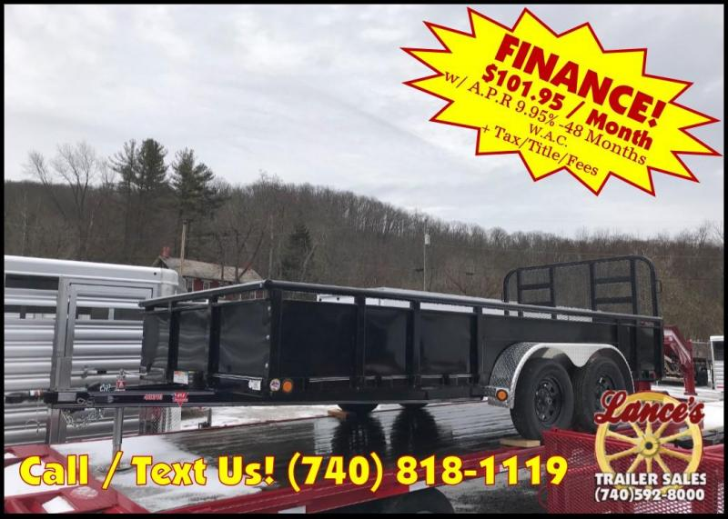 "2019 PJ 83"" x 16' Heavy Duty Fold Up Gate Utility Trailer K2585756"