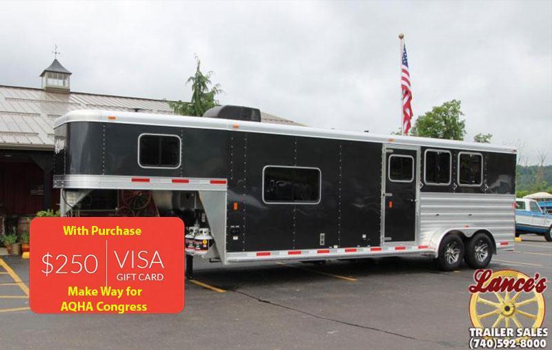 2018 Exiss Express 7311 3 Horse Slant Load LQ
