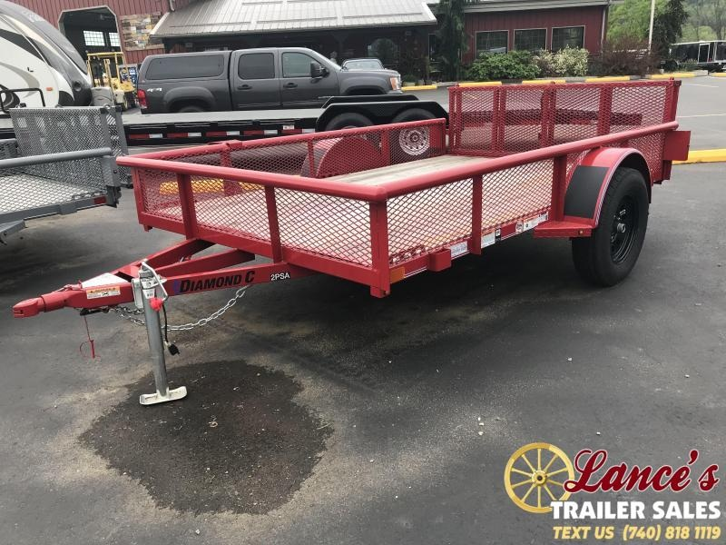 "2018 Diamond C 2PSA 77""x10' Utility Trailer J1204624"