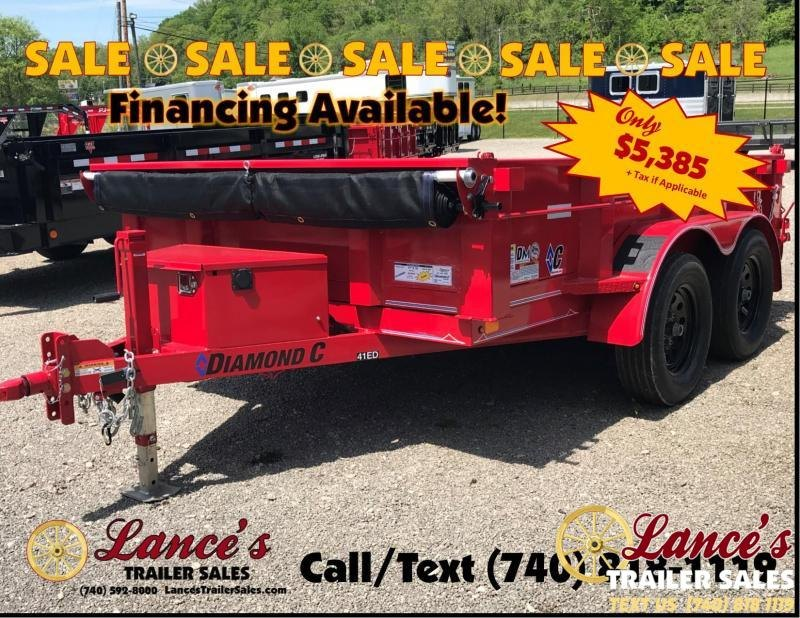 "2019 Diamond C 77""x10' Dump Trailer K1209566"