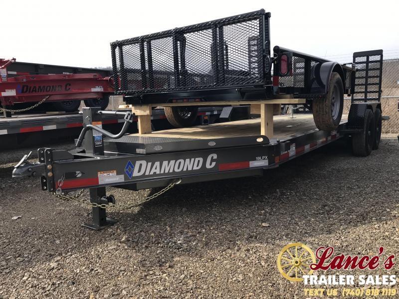 "2019 Diamond C 82""x20' Low Pro Equipment Trailer K1206904"