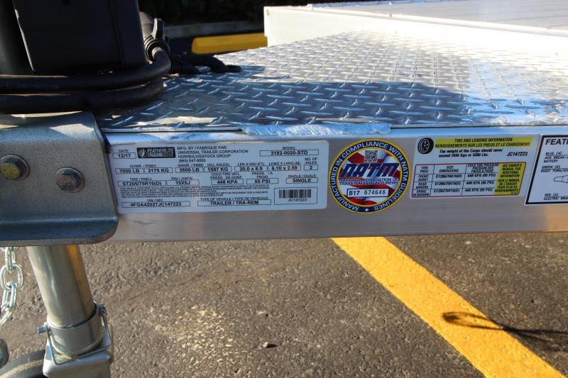 2018 Featherlite 3182 20' Aluminum Car Hauler
