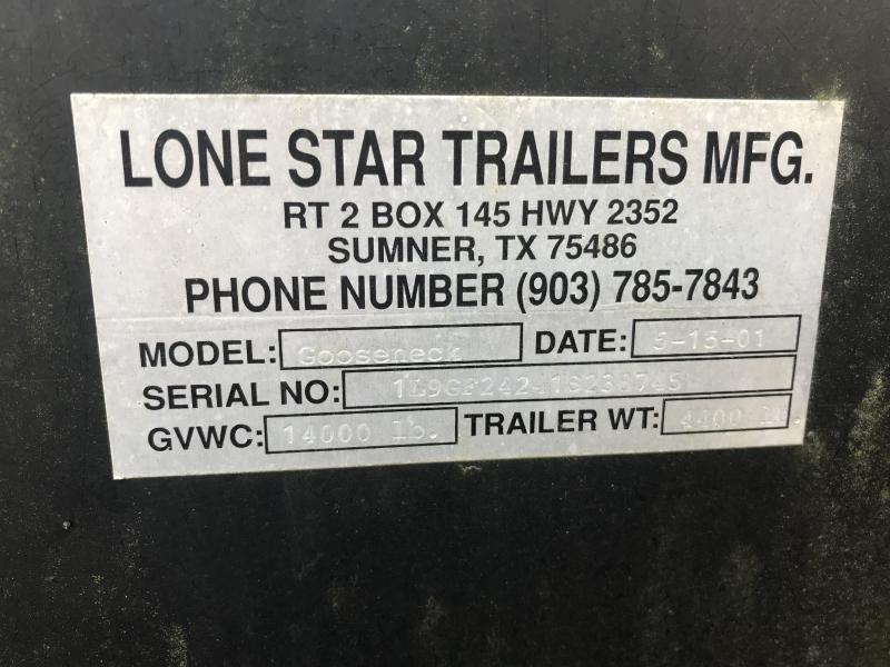 "2005 Lonestar 96""x24' Used Equipment Trailer"