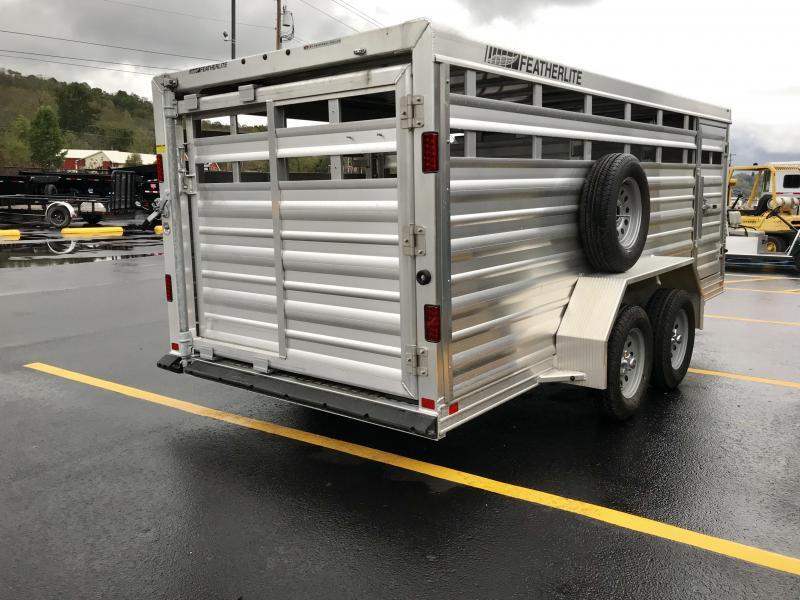 2017 Featherlite Low Pro 16' Livestock Trailer