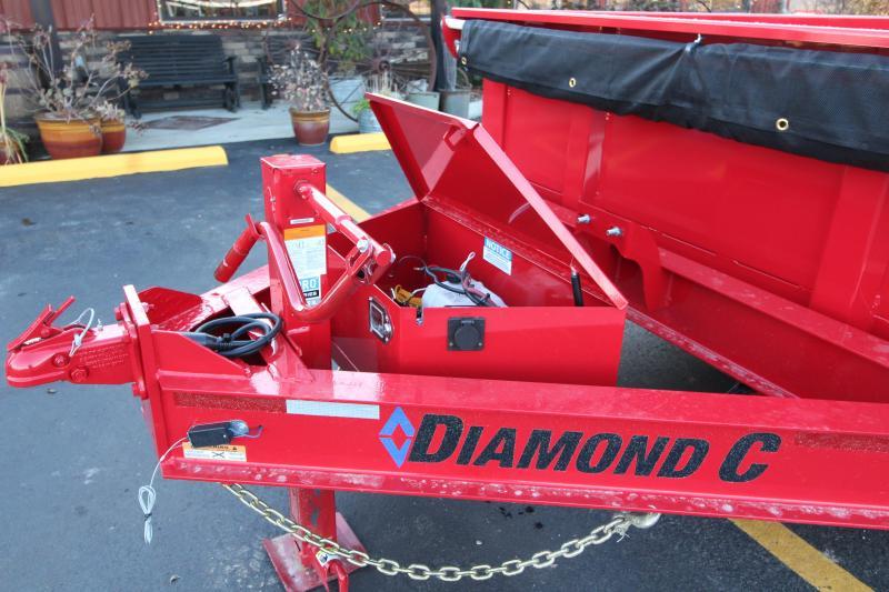 "2019 Diamond C 82""x16' Heavy Duty Dump Trailer K1208397"