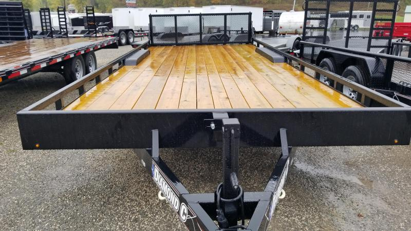 2017 Diamond C  47MD 20'  Mid-Deck Equipment Trailer