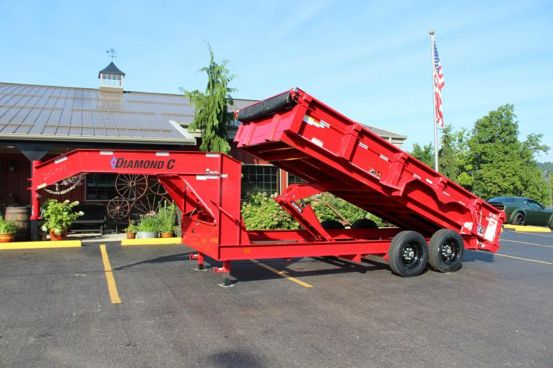 "2018 Diamond C 82""x16' Heavy Duty Gooseneck Dump Trailer K1207302 in Ashburn, VA"