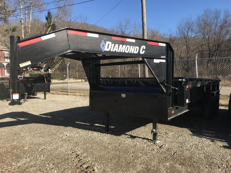 "2018 Diamond C 82""x16' Heavy Duty Gooseneck Dump Trailer K1207302"