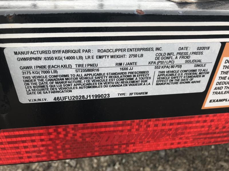 "2019 Diamond C 82""x20' Equipment Trailer J1199032"