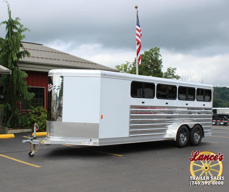 "2019 Exiss ""Exhibitor"" 20' BP Livestock Trailer w/Windows"