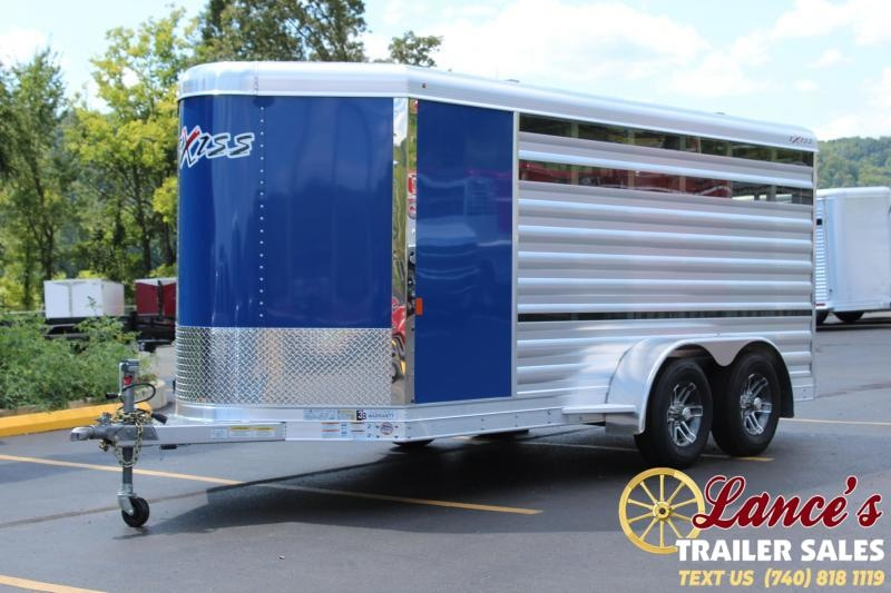 2020 Exiss Mini Combo Exhibitor Low Pro Show Bumper 15' Livestock Trailer