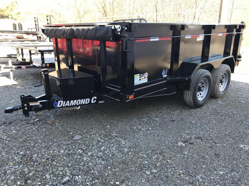 "2019 Diamond C 77""x12' High Sided Dump Trailer K1207484"