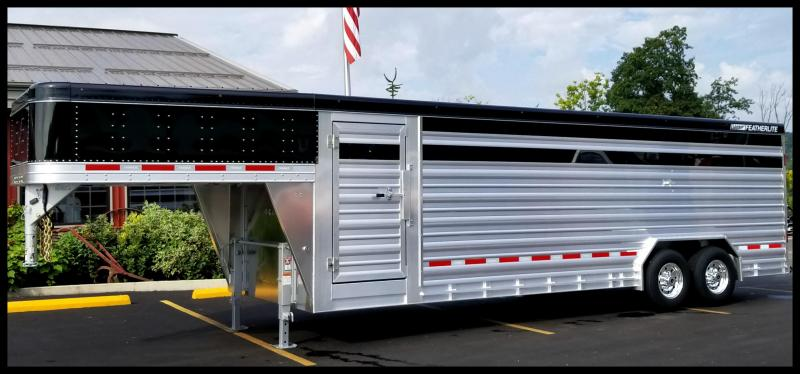 """2018 Featherlite 8127 8'X24' """"Presidential Edition"""" Show Cattle Trailer"""