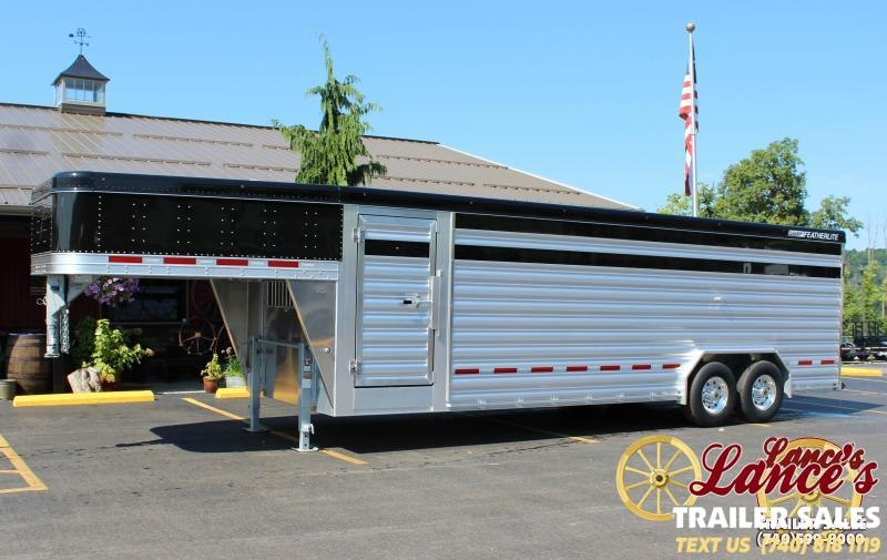 "2019 Featherlite 8127 8'X24' ""Presidential Edition"" Show Cattle Trailer"