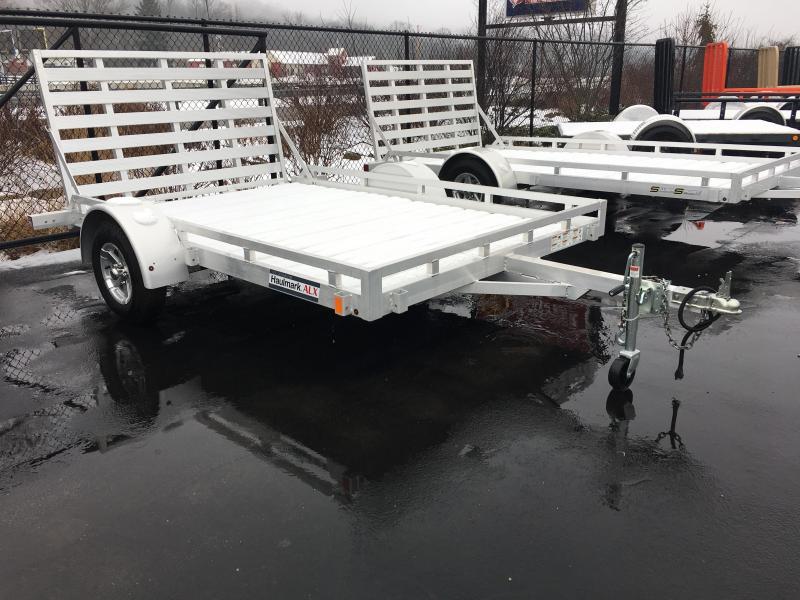 "2018 Haulmark ALX 77""x12' Aluminum Utility Trailer JH372355"