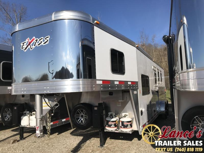2019 Exiss Escape 7308 3 Horse Slant Load Trailer K5071018
