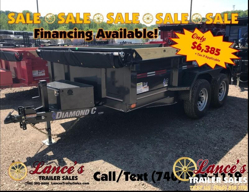 "2019 Diamond C 77""x12' Dump Trailer K1214297"