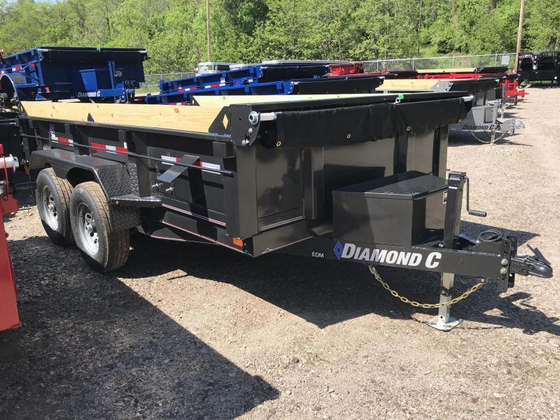 """2019 Diamond C 77""""x12' Dump Trailer K1214297"""
