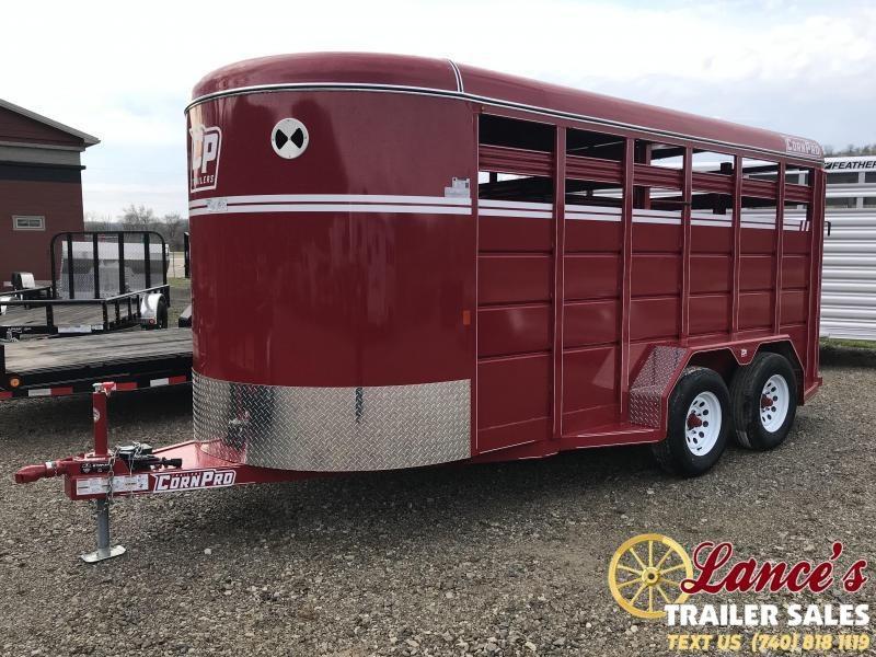 2019 CornPro Trailers SB166S Livestock Trailer