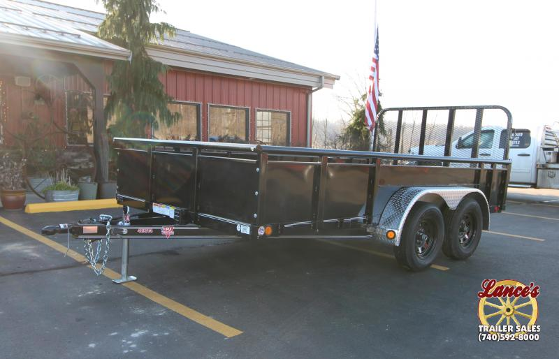 "2019 PJ 83""W x 14'L Fold Up Gate Utility Trailer"