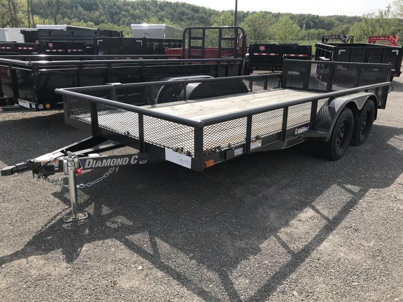 """2018 Diamond C 6GT 83""""x16' Utility Trailer J1204583"""
