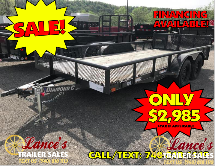 "2018 Diamond C 6GT 83""x16' Utility Trailer J1204583"