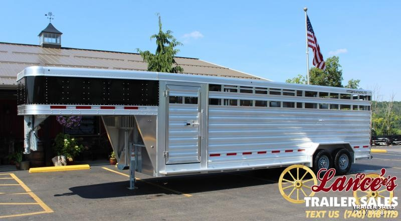 2019 Featherlite 8127 7x24 Show Cattle Trailer w/Stainless Front & Ramp