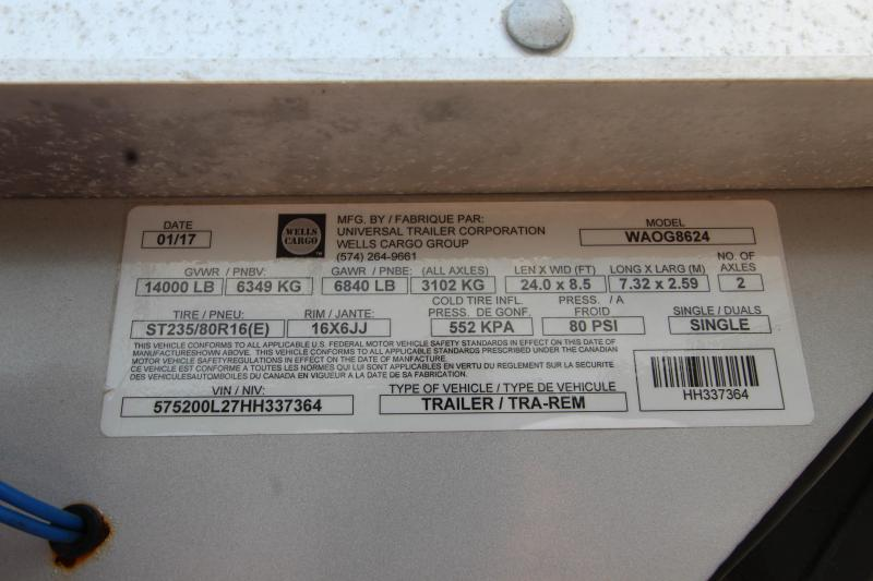 """2017 Haulmark 102""""x24' Aluminum Equipment Trailer HH337364"""